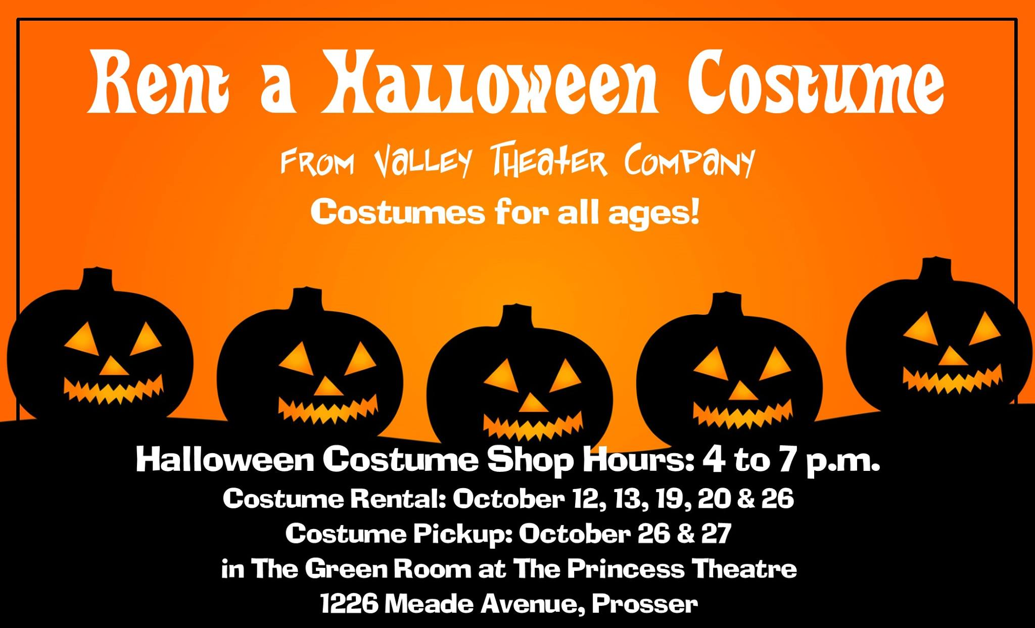Princess Theatre Halloween Costume Rental